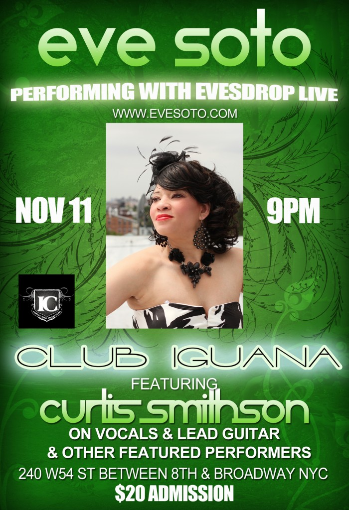 Eve Soto Perfoming @Club Iguana Nov 11